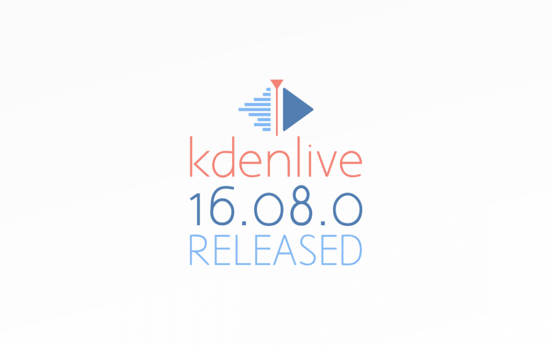 Kdenlive 16.08.0 is here