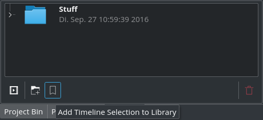 Bookmark: copy timeline selection to your library