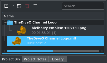 You may now remove th library clip from the project bin
