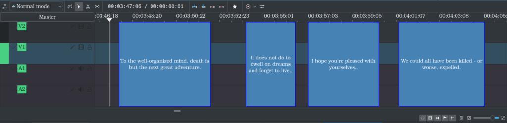 Display Subtitle clips on timeline