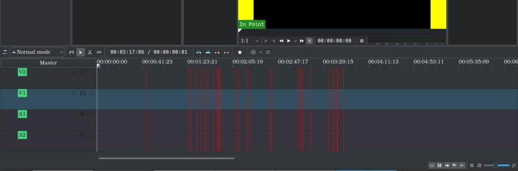 Display subtitle start timings